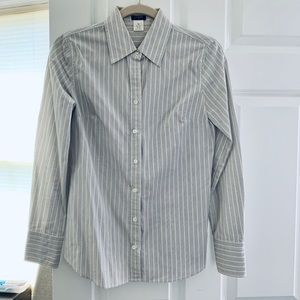 JCrew Cotton Stripe Collar Shirt - Size XS